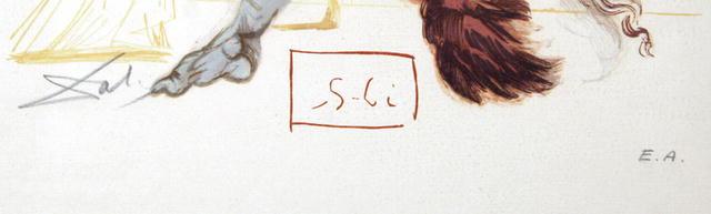 Salvador Dali Woodcut Divine Comedy,