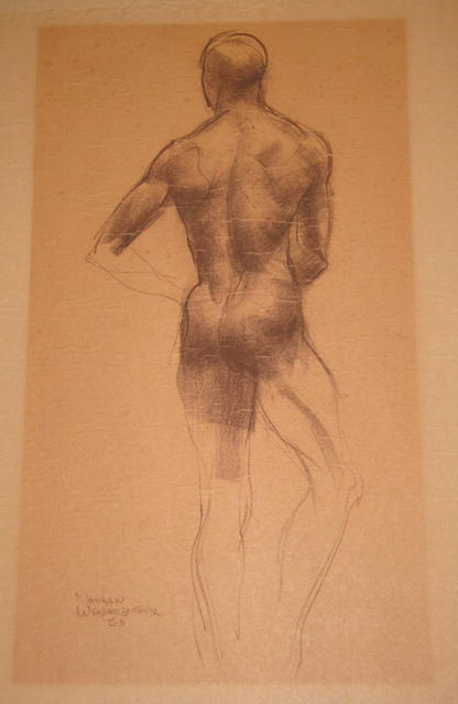 Nathan Wasserberger Original Drawing, Nude