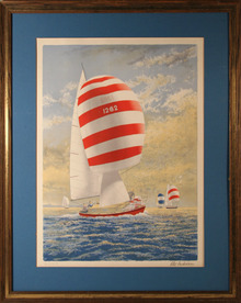 Alex Packham, S/N Framed Lithograph, Sailboat