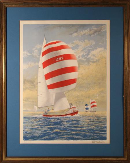 Alex Packham, S/N Framed Lithograph, Sailboat
