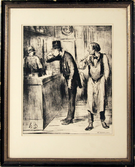 Honore Daumier, Framed Lithograph, Ami du