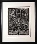 A. Raymond Katz, Mishna Framed Woodcut Print