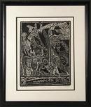 A. Raymond Katz, Mishna Framed Woodcut