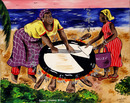 Isiah Nicholas, Island Painting, Baking Cassava