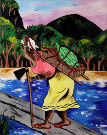 Isiah Nicholas, Island Painting, Coming from