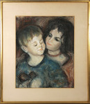 Judge Original Pastel Drawing, Brother and