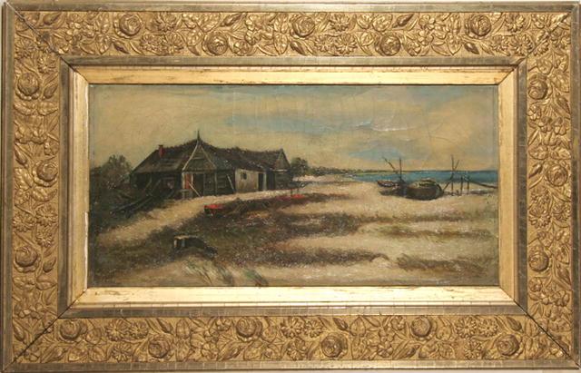 C.A. Edward Framed Oil Painting, Landscape