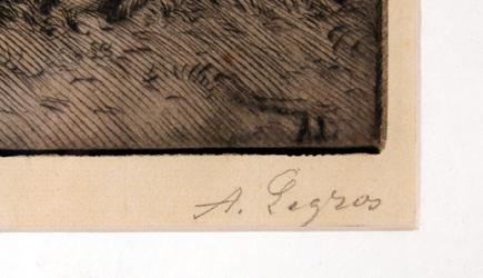 Alphonse Legros 1880 Etching, Rip van Winkle
