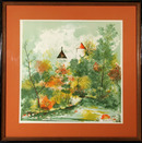 Trousselle Signed Lithograph, French Castle,