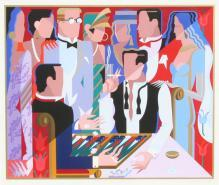 Giancarlo Impiglia, Backgammon, Signed Serigraph