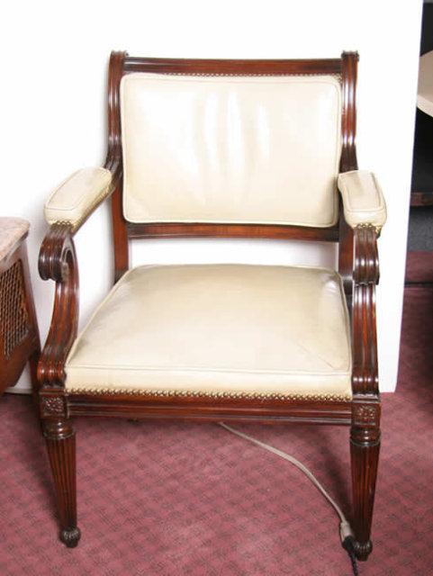 Mahogany Open Arm Chair