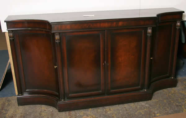 Mahogany and Flame Mahogany Veneered Credenza