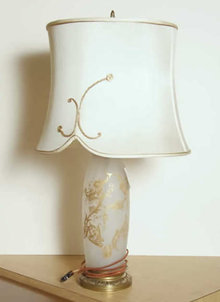 Frosted Glass French Table Lamp