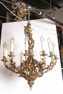 Gilt Bronze Twelve-Arm Chandelier