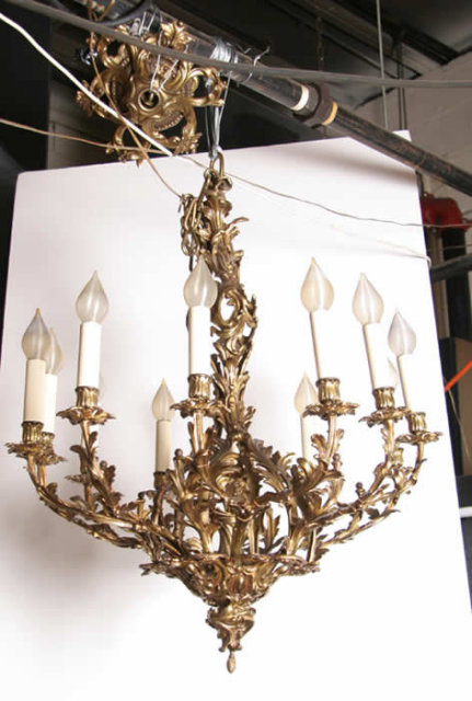 Gilt Bronze Twelve-Arm Chandelier