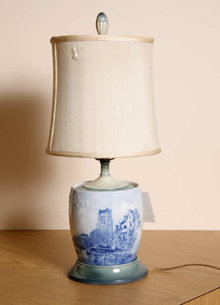 Glazed Pottery Jar Lamp