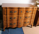 Three-Drawer Low Dresser French Provincial Styl
