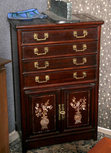 Oriental Chest of Drawers, Hong Kong 1950's