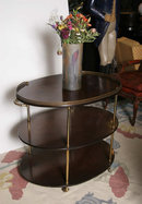 Mahogany Three-Tier Table George III Tarkington