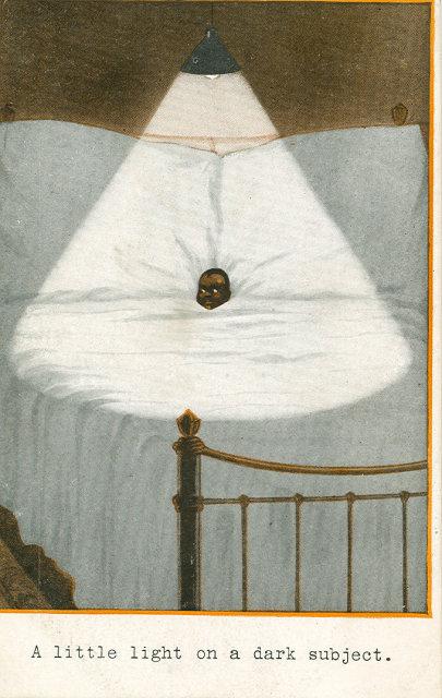 Early 1900's Postcard, A Little Light