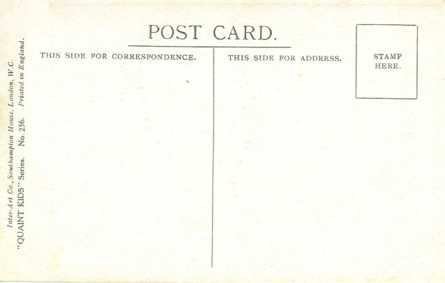 Early 1900's Postcard, A Little Light