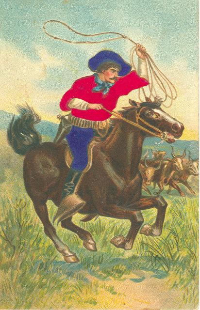 1911 Embossed Postcard, Cowboy