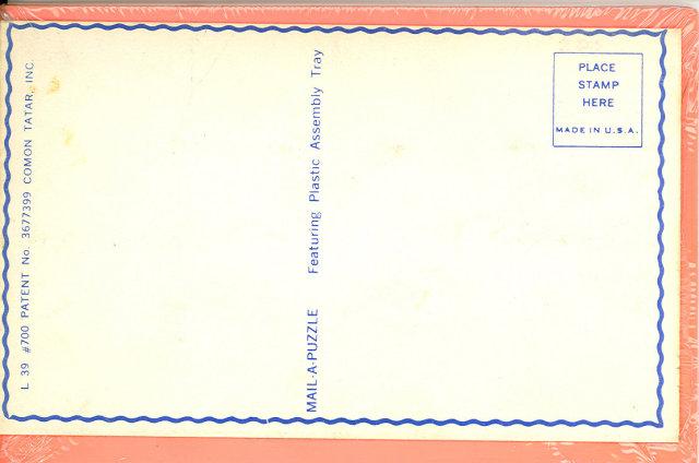 Jigsaw Puzzle Postcard, Pan Am 747
