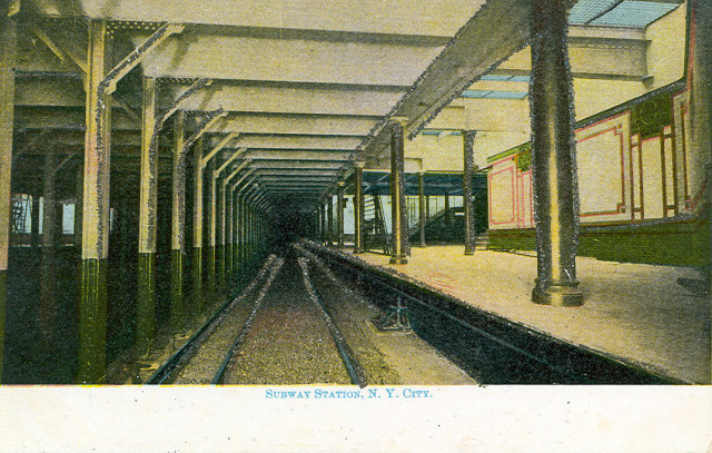 Early 1900's Postcard, Subway Station NYC