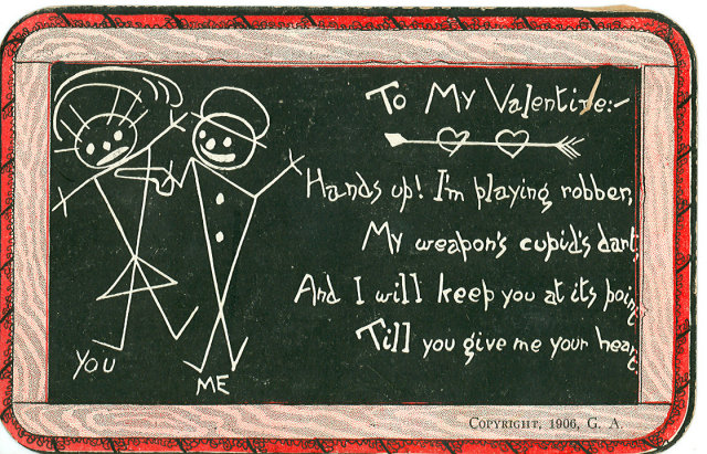 1906 Postcard, To My Valentine
