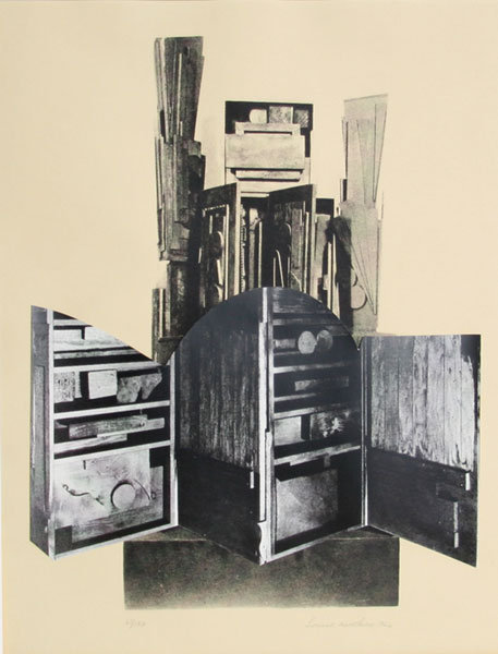 Louise Nevelson, Lullaby, Lithograph/Collage