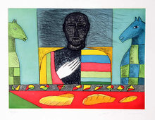 Mimmo Paladino, Signed Aquatint Etching