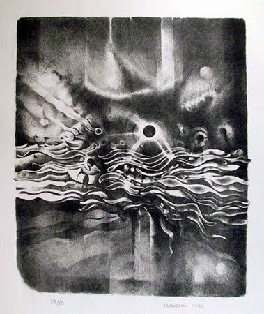 Lee Bontecou, Signed Abstract Lithograph