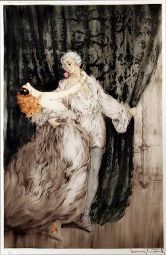 Louis Icart, Casanova, Color Etching