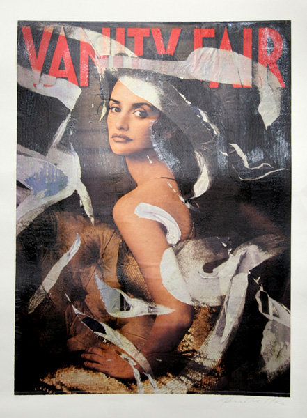 Mimmo Rotella, Penelope Cruz, Serigraph/Collage