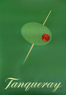 Tom Gianfagna, Tanqueray, Signed Lithograph