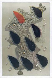 Kim Tschang Yeul, Waterdrops, Silkscreen