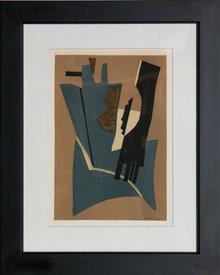 Alberto Magnelli, Framed Lithograph