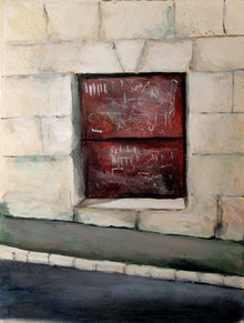 Avner Moriah, Street Window, Israel Painting