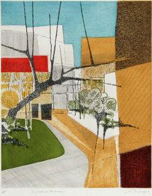 Bernard Munch, Le Jardin, Aquatint Etching