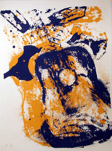 Arman, Blowing Guitar, Serigraph