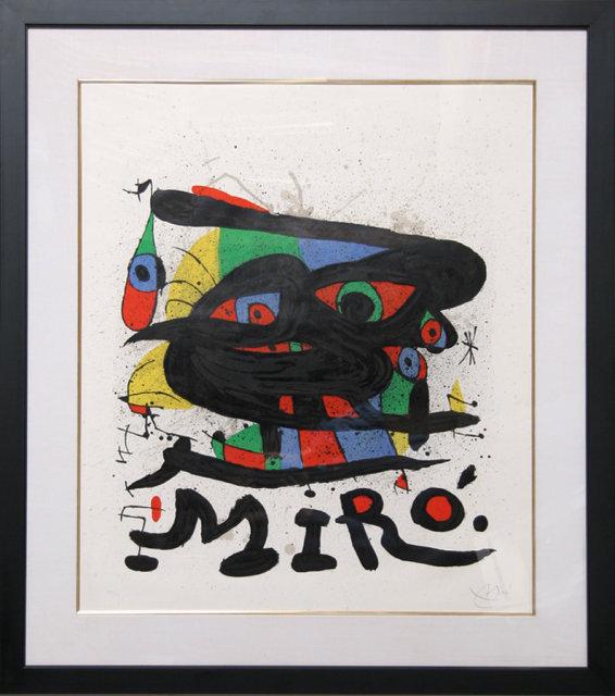 Joan Miro, Walker Art, Framed Lithograph
