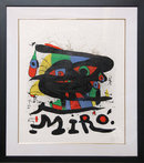 Joan Miro, Walker Art, Framed Lithograph