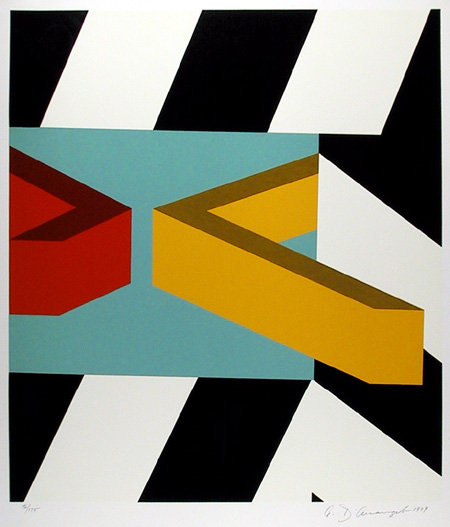 Allan D'arcangelo Caves, Signed Serigraph