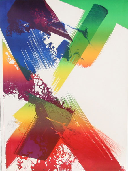 Paul Jenkins, Signed Abstract Lithograph