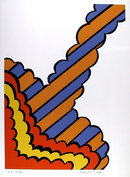 Nicholas Krushenick, Signed Abstract Lithograph