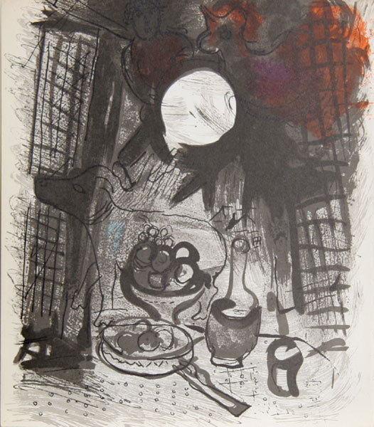 Marc Chagall, Nature Morte Brune, Lithograph