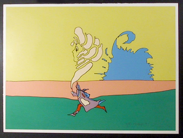 Peter Max, Running with Mother, Serigraph