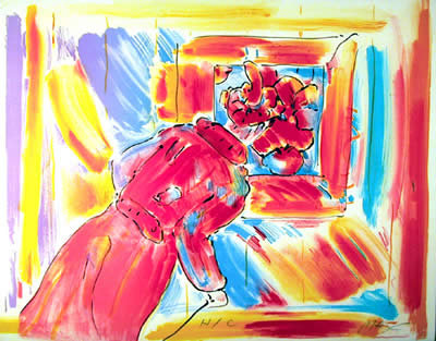 Peter Max, At the Picture, Lithograph