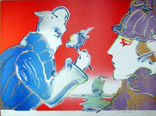 Peter Max, Giving of the Flower, Lithograph