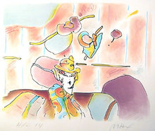 Peter Max, Lady of Fashion, Lithograph